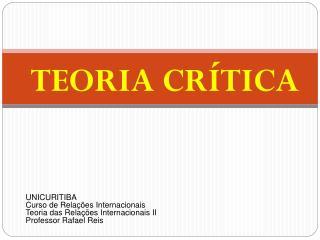 TEORIA CR TICA
