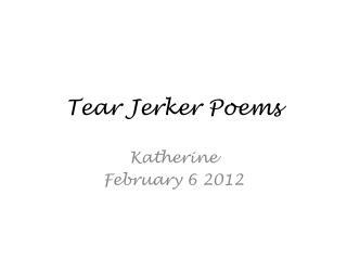 Tear Jerker Poems