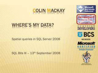 Where�s My Data?