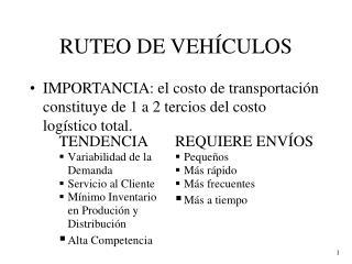RUTEO DE VEH CULOS
