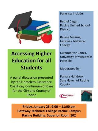 Panelists include: Bethel  Cager ,  Racine Unified School District