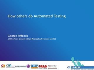 How  others  do Automated Testing