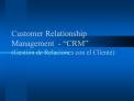Customer Relationship Management  -  CRM  Gesti n de Relaciones con el Cliente