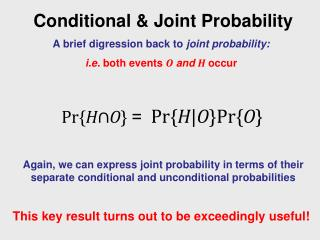 Conditional & Joint Probability