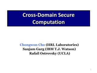 Cross-Domain  Secure  Computation