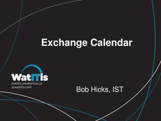 Exchange Calendar