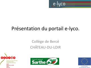 Pr�sentation du portail e-lyco.