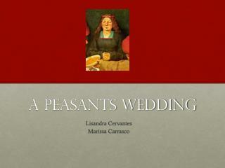 A Peasants Wedding