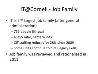 IT@Cornell - Job Family