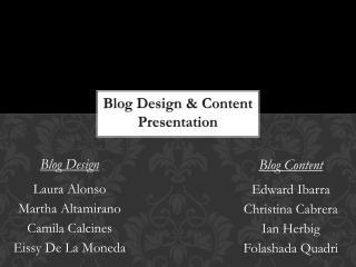 B log  D esign & Content Presentation