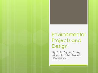 Environmental Projects and Design