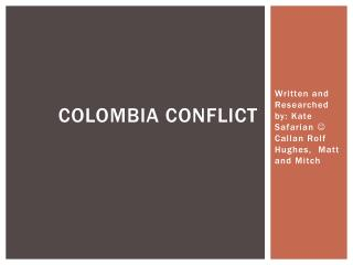 Colombia conflict