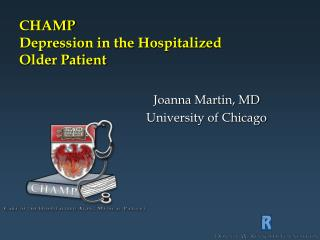 CHAMP Depression in the Hospitalized  Older Patient