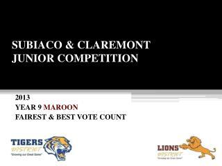 SUBIACO & CLAREMONT JUNIOR COMPETITION
