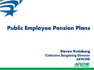 Public Employee Pension Plans