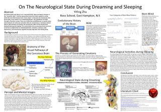 On The Neurological State During Dreaming and Sleeping YiYing  Zhu Ross School, East Hampton, N.Y.