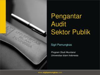 Pengantar  Audit  Sektor Publik