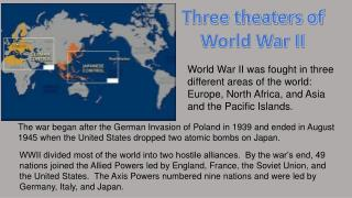 Three theaters of World War II