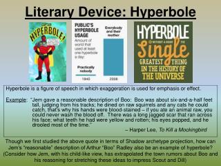 Literary Device: Hyperbole