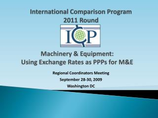 International Comparison Program 2011 Round