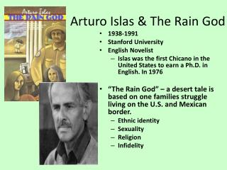 Arturo Islas & The Rain God