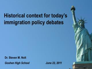 Historical context for today's immigration policy debates