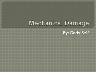 Mechanical Damage