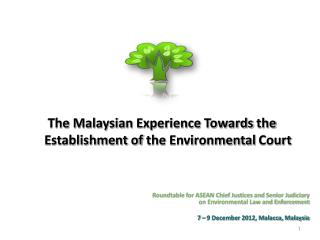 Roundtable for ASEAN Chief Justices and Senior Judiciary on Environmental Law and Enforcement