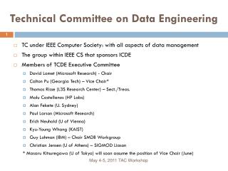 Technical Committee on Data Engineering
