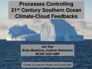 Processes Controlling 21 st  Century Southern Ocean Climate-Cloud Feedbacks