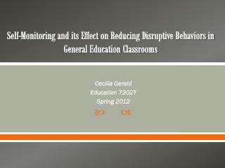 Cecilia Gerald Education 7202T Spring 2012