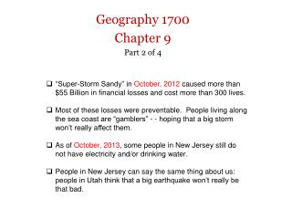 Geography  1700 Chapter 9 Part  2 of 4