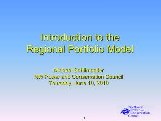 Introduction to the Regional Portfolio Model