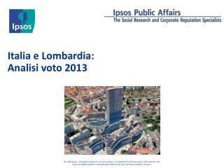 Italia e Lombardia: Analisi voto 2013