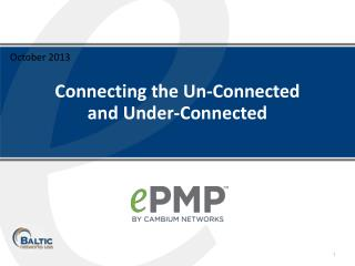 Connecting the Un-Connected  and Under-Connected