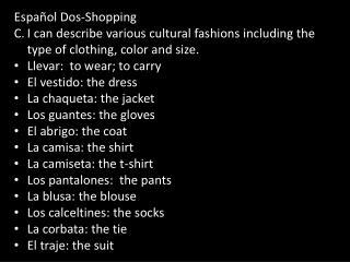 Espa ñol  Dos-Shopping