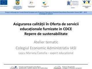 Atelier  tematic Colegiul Economic  Administrativ  IASI