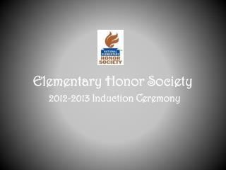 Elementary Honor Society