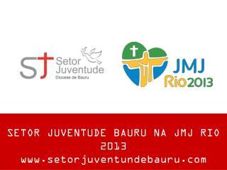 SETOR JUVENTUDE BAURU NA JMJ RIO 2013 setorjuventundebauru