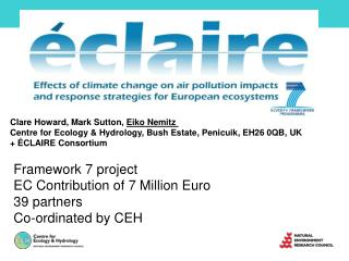 Framework 7 project EC Contribution of 7 Million Euro 39 partners Co-ordinated by CEH