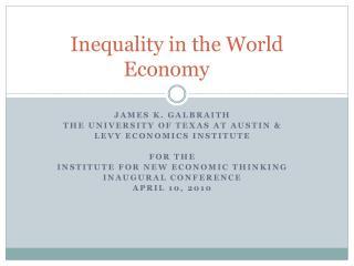 Inequality in the World Economy