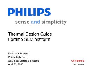 Thermal Design Guide Fortimo SLM platform
