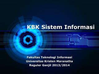 KBK  Sistem Informasi