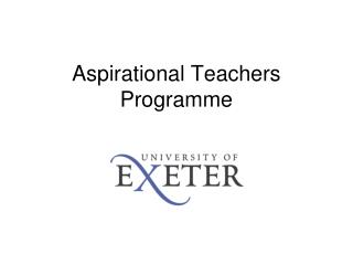 Aspirational Teachers Programme