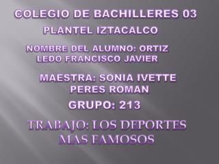 COLEGIO DE BACHILLERES 03