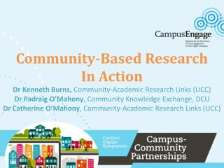 Community-based research  and higher education