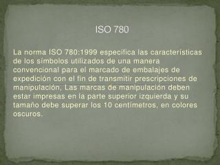 ISO 780