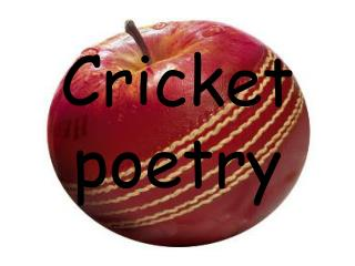 Cricket poetry