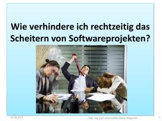 Wie verhindere ich das Scheitern von Softwareprojekten?