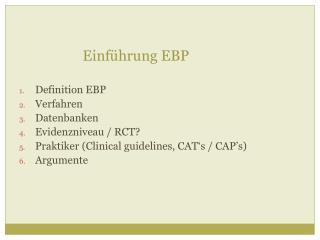 Einf�hrung EBP